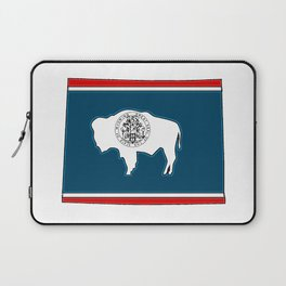 Wyoming Map with State Flag Laptop Sleeve