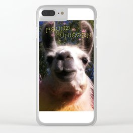 Blanche in paradise - Found Unicorn Clear iPhone Case