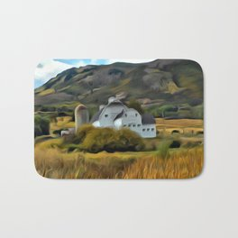 The Farm in Fall by Leslie Harlow Bath Mat