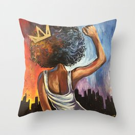 Black Queen Throw Pillow