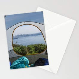 Downtown San Francisco from the tent Stationery Cards