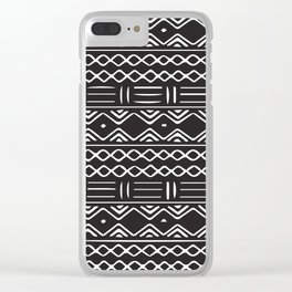 African Tribal Pattern No. 140 Clear iPhone Case