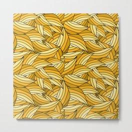 PRIMROSE YELLOW LEAVES B (abstract flowers nature) Metal Print