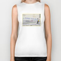 feminism Biker Tanks featuring Feminism fights back by SpaceoperaImage