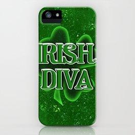 Irish Diva - St Patrick's Day Clover iPhone Case