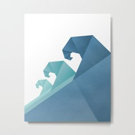 Wave geometric art Metal Print