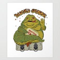 Maneki Jabba Art Print