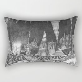 Cavernous Darkness Rectangular Pillow