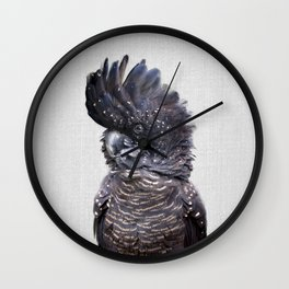 Black Cockatoo - Colorful Wall Clock