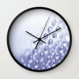 Colorful liquid droplets and blurs background wallpaper Wall Clock