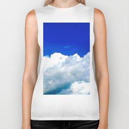Clouds in a Clear Blue Sky Biker Tank