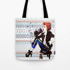 A Redhead Sitting Tote Bag