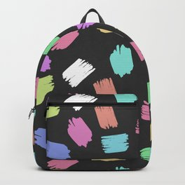 Colorful Brush Strokes - Blue Green Pink Purple Backpack