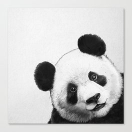 peekaboo panda Canvas Print
