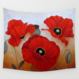 POPPIES II Wall Tapestry