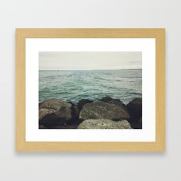i am the sea Framed Art Print