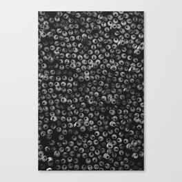 Black and white soda cans pattern Canvas Print