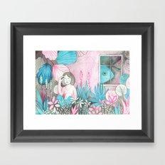 Poissons Framed Art Print