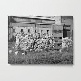 Block Wall Ruin Metal Print