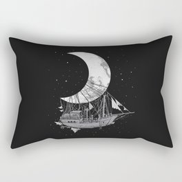Moon Ship Rectangular Pillow