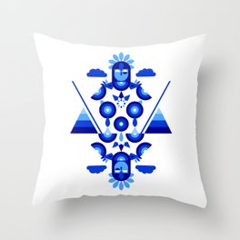 Libra in Blue Throw Pillow