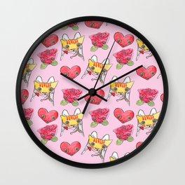 """Oro?"" Valentines Wall Clock"