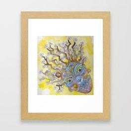 Plum Blossom Lady Framed Art Print