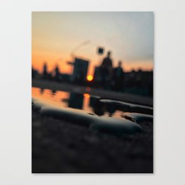 Sun in the city Canvas Print
