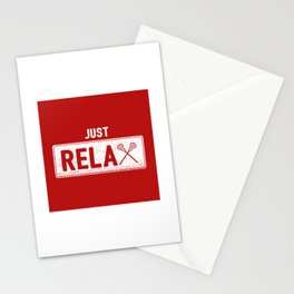 Just Relax Lacrosse - Funny Lacrosse Quotes Gift Stationery Cards
