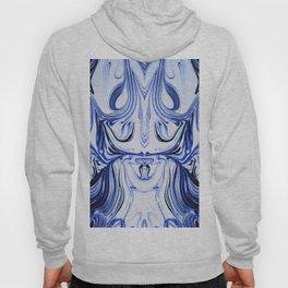 Blue Oil Gestalt Abstract I Hoody