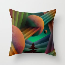 Planet Path Throw Pillow