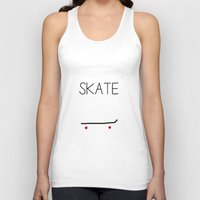 skate Tank Tops featuring Skate by short stories gallery