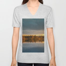 Nature lake 88471 Laupheim - Germany Unisex V-Neck