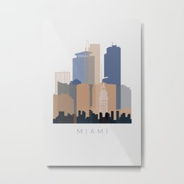 Miami vertical skyline design Metal Print