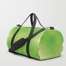 Kaleidoscopic design in soft green colors Duffle Bag