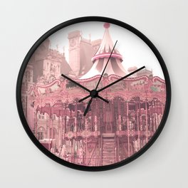 Paris Nursery, Blush, Carousel Wall Clock
