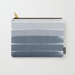Tasli - ombre paint brushstrokes grey fade trendy dorm college home decor Carry-All Pouch