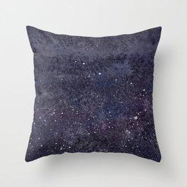 Splatter Galaxy Throw Pillow