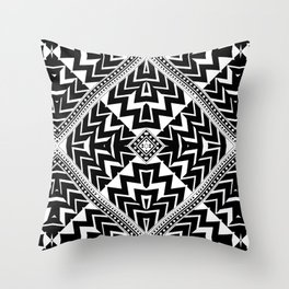Black and White | Leyana Tribal 1 Throw Pillow