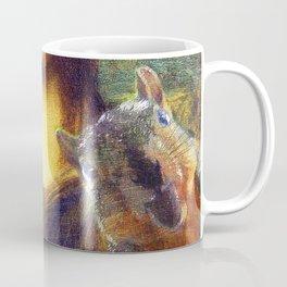 Mona Lisa Squirrel Photo Bomb Pop Art Coffee Mug