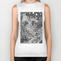 under the sea Biker Tanks featuring Under the sea by Ommou