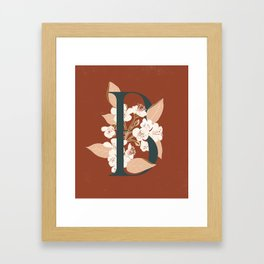 Letter B for Bergenia Framed Art Print