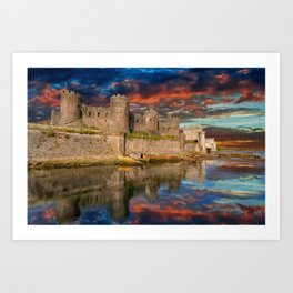 Conwy Castle Sunset Art Print