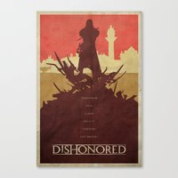 dishonored Canvas Prints featuring To the Rats - Dishonored Poster by Edward J. Moran II