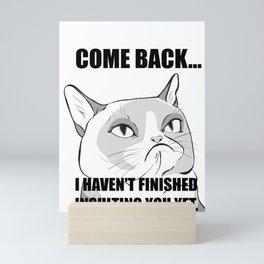 sassy cat Mini Art Print