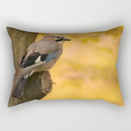 Jay bird in the park Rectangular Pillow
