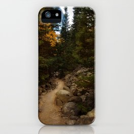 Mountain Path in Autumn iPhone Case