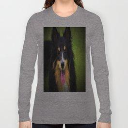 Tri colored Shetland Sheepdog Sheltie Long Sleeve T-shirt