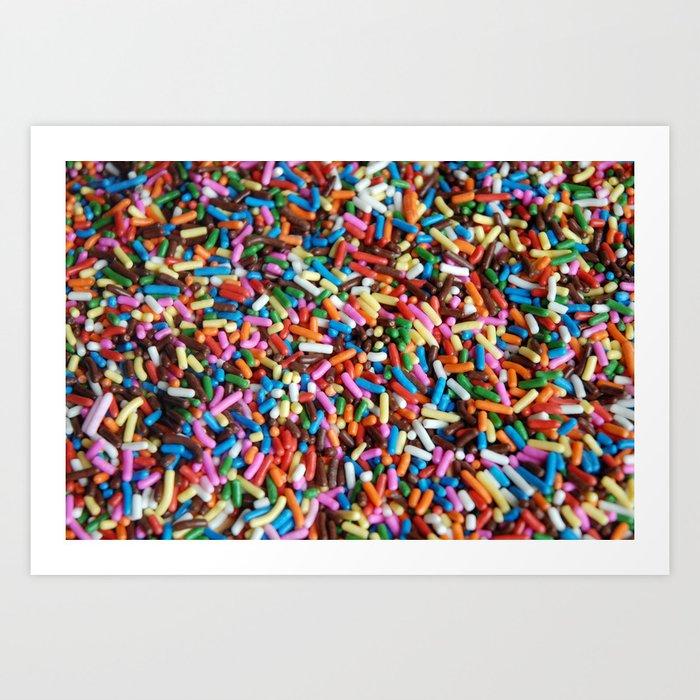 Rainbow Sprinkles Art Print by hhprint