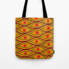 Their Eyes - Yellowed Orange Tote Bag
